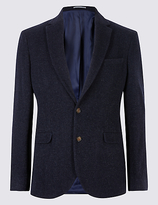 M&s Collection Wool Rich Single Breasted Jacket
