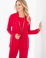 Chico's Easy Drape Jacket in Chinese Red
