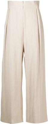 Cherevichkiotvichki High-Waisted Wide Trousers