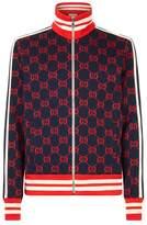Gucci Logo Print Jersey Track Jacket