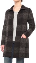 Max Studio Patchwork Open-Front Sweater Jacket (For Women)
