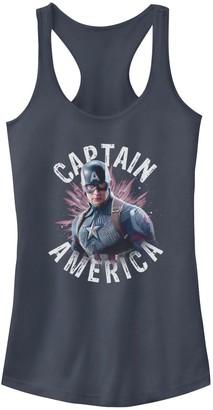 Licensed Character Juniors' Marvel Captain America Portrait Burst Logo Tank