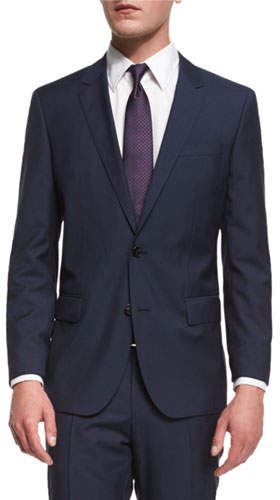 BOSS Huge Genius Slim-Fit Basic Suit, Navy