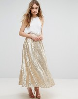 Traffic People Sequin Midi Skirt