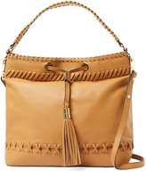 Milly Women's Astor Whipstitch Leather Hobo