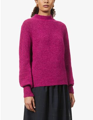 Sessun Loli funnel-neck stretch-knitted jumper