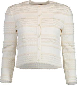Alexander McQueen Textured Cropped Cardigan