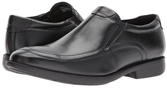 Nunn Bush Dylan Moc Toe Loafer with KORE Walking Comfort Technology (Black) Men's Slip-on Dress Shoes