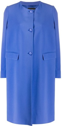 Emporio Armani Single-Breasted Collarless Coat