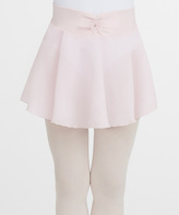 Capezio Light Pink Bow Pull-On Skirt - Toddler & Girls