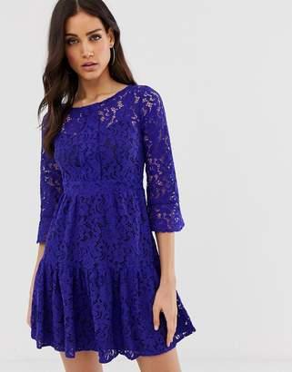 Closet London Closet lace full skirt dress-Purple
