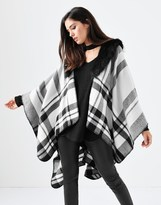 Forever New Faux Fur Poncho