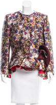 Antonio Berardi Jacquard Collarless Jacket w/ Tags