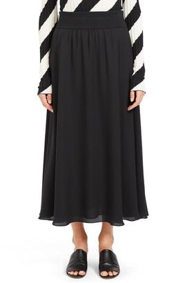 Theory Silk Maxi Skirt