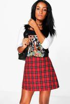 Boohoo Laina Tartan Check Woven A Line Mini Skirt