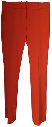 HUGO BOSS Orange Wool Trousers for Women