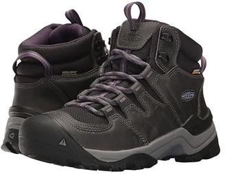 Keen Gypsum II Mid Waterproof (Earl Grey/Purple Plumeria) Women's Waterproof Boots