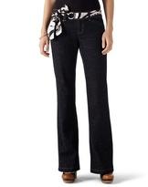 White House Black Market Noir Black Crosshatch Trouser