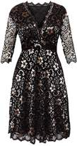 KingField Fashion Women's Elegant Lace Sexy V-neck Plus Size Formal Skater Dress Womens Dress