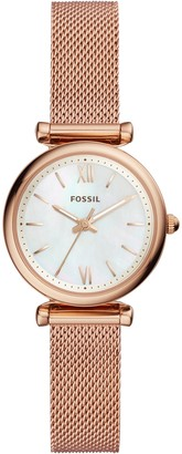 Fossil Women's Mini Carlie Bracelet Strap Watch