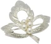 Mikimoto 925 Sterling Silver Pearl Pin Brooch