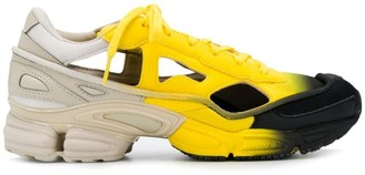 Adidas By Raf Simons Black, Yellow and Beige X Raf Simons Replicant Ozweego sock pack sneakers