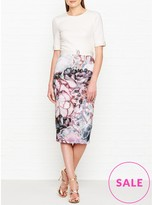 Ted Baker Stephie Illuminated Bloom Contrast Dress