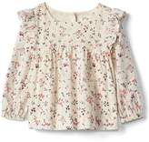 Gap Floral ruffle top