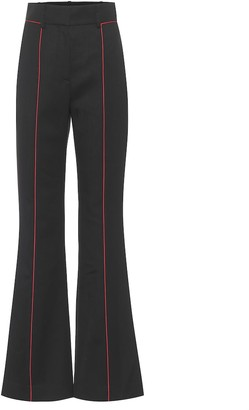 Givenchy High-rise flared wool pants
