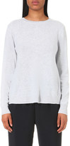 Clu Lace-panel wool and cashmere-blend jumper
