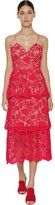 Self-Portrait Self Portrait Azalea Flower Lace Midi Dress