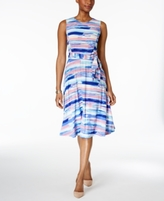 Charter Club Petite Striped Fit & Flare Dress, Created for Macy's