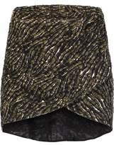 Just Cavalli Wrap-Effect Printed Lace Mini Skirt