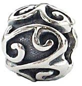 Zable Sterling Silver Scroll Bead