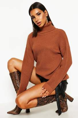 boohoo Fisherman Roll Neck Sweater