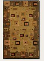 Couristan 9926/1000 Pokhara Timberlake Multi/Earthtones Rug, 3-Feet 6-Inch by 5-Feet 6-Inch
