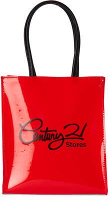 Urban Expressions Red & Black C21 PVC Tote Bag