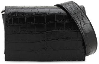 Tod's Croc Embossed Leather Shoulder Bag