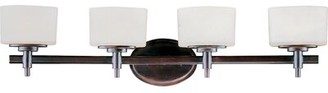 Danbury Latitude Run 4-Light Vanity Light Latitude Run Finish: Oil Rubbed Bronze