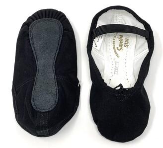 Sansha Unisex-Kid's 14C Star Black I Medium Sizes AD Ballet Flat M BR Little Kid (2.5 US)