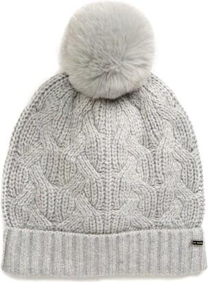 Ted Baker Peppier Faux Fur Pompom Hat