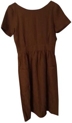 Sã©Zane SAzane Spring Summer 2020 Brown Linen Dresses