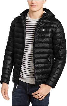 Calvin Klein Men Big & Tall Packable Down Hooded Puffer Jacket