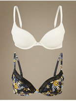 M&S Collection 2 Pack Smoothing Underwierd Push-Up Bra A-DD