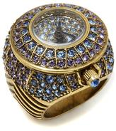 "Heidi Daus It's a Ringer"" Pave Crystal Ring Watch"