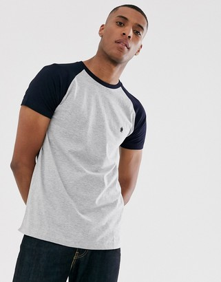 French Connection raglan contrast T-Shirt-Grey