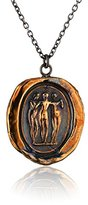 Pyrrha Bronze Three Graces Talisman Necklace, 18""
