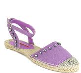 C Label Purple Adler Rhinestone Espadrille Sandal