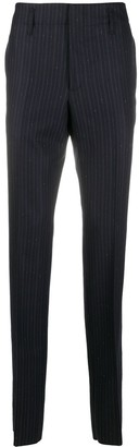 Salvatore Ferragamo Pinstriped Straight-Leg Trousers
