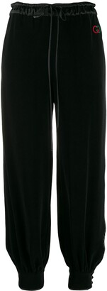 Gucci tapered wide-leg trousers